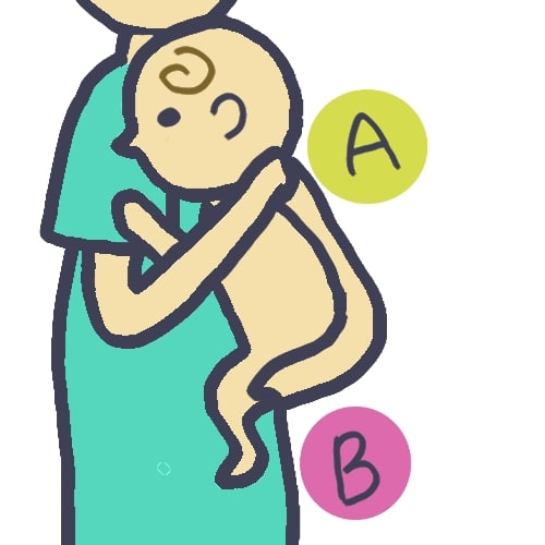 新生児赤ちゃんの吐き戻し対策①縦抱き授乳